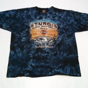 Harley Davidson Tie Dye T-Shirt 2X Sturgis Rally